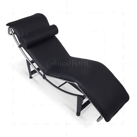 chaise longue le corbusier replica le corbusier style lc4 chaise longue black leather replica