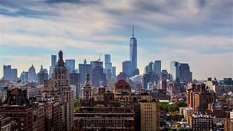 beautiful clouds new york city manhattan skyline nyc ny