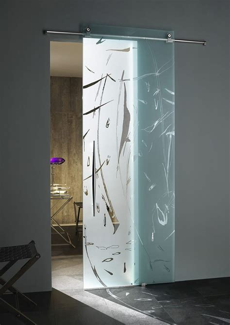 Sliding Glass Interior Door Modern Glass Door In Bathroom And Toilet