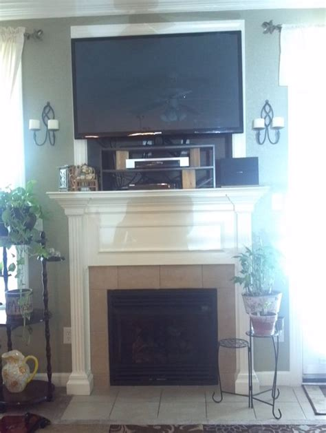 Where To Put Cable Box With Tv Fireplace by Help With Mounting Flat Screen Tv Fireplace Knockout
