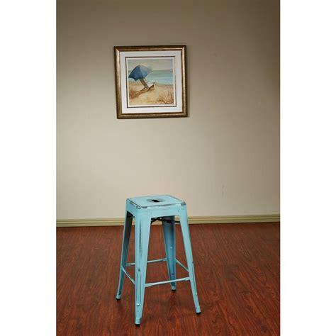 26 quot metal bar stool in antique sky blue set of 2 work smart bristow 26 25 in antique sky blue bar stool