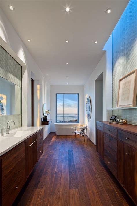 California Bathroom by Bathroom Bath Wooden Floor Hilltop Home In Carpinteria
