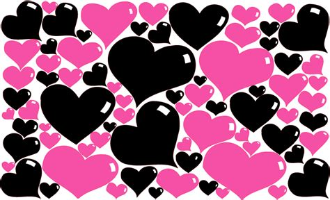 black pink heart pink and black hearts scrapbooking picture ideas pinterest