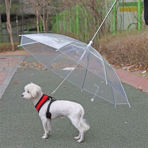 puppy umbrella pet umbrella with leash 187 gadget flow