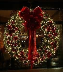 light up wreaths outdoors large lit wreath holidays