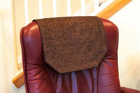 recliner chair headrest covers recliner chair headrest cover large chocolate brown chenille