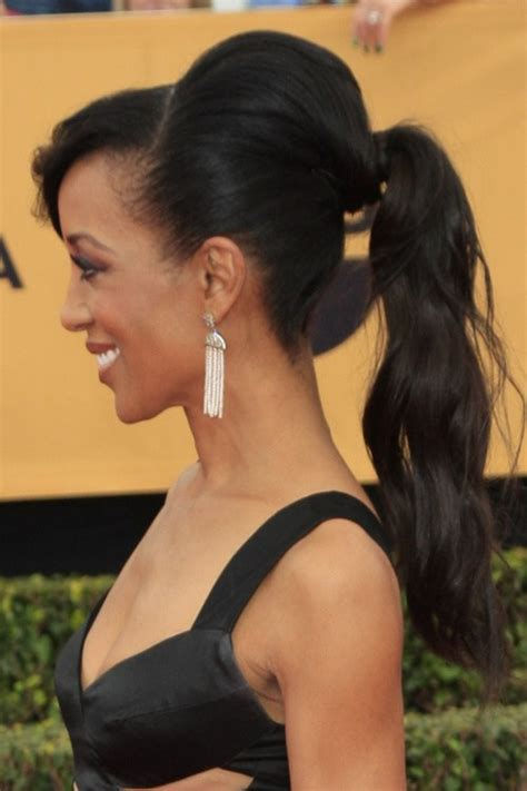 Black Hairstyles With Bangs And Ponytail by 20 Black Hairstyles With Bangs Oozing Mismatched Chic