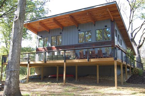 modern shed roof house modern home  knoxville tennessee