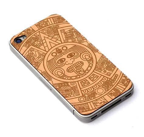 Aztec Pattern Wood Classic Iphone All Hp iphone 4 4s skin aztec calendar craftedcover