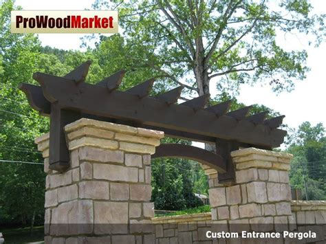 custom made pergola crafted custom cedar pergola and wooden corbel 23t3 by pro wood market custommade