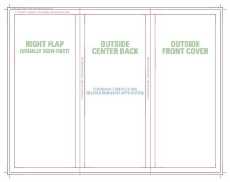 tri fold tent card template templates for accurate printing