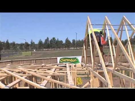 safe erection  roof trusses youtube