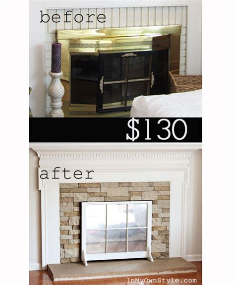airstone fireplace makeover construction home