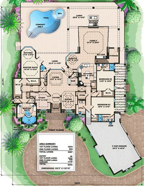 tuscan house designs and floor plans beautifully designed tuscan house plan 66185we 1st
