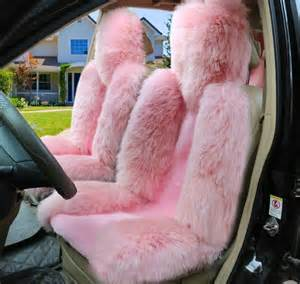 Pink Car Seat Covers Australia Buy Wholesale Universal Australia Genuine Sheepskin Car