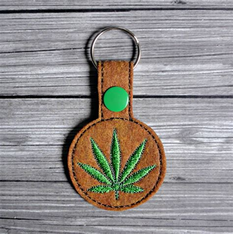 embroidery design keychain cannabis keychain ith embroidery design uncle matt s crib