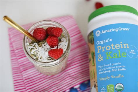 protein kale protein kale overnight oats amazing grass