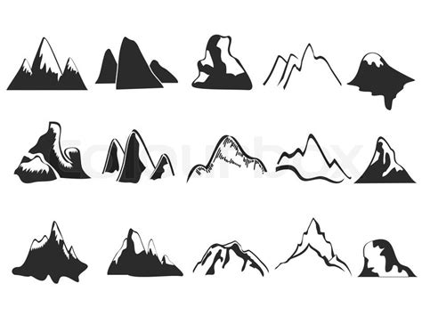 satz von berg symbole vektorgrafik colourbox