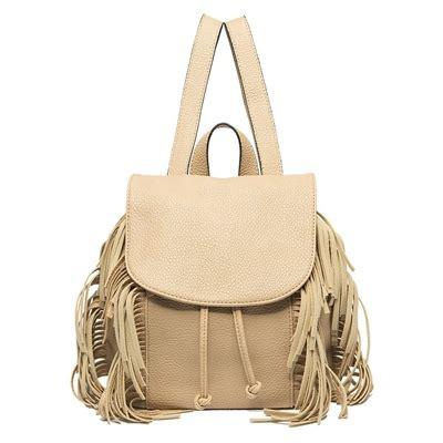 Bag Furla 1741 Cannarine Set melie bianco vegan leather fringe mini backpack