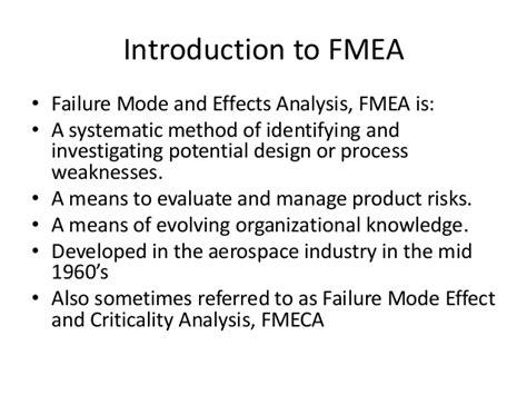 design failure mode effect analysis fmea failure mode effect analysis
