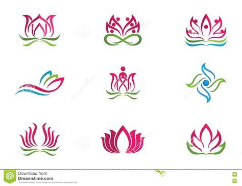 tatuaggio fiore di loto stilizzato fondo stilizzato di vettore dell icona fiore di loto
