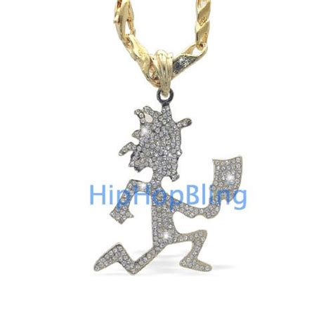 bling bling icp hatchetman gold charm chain officially