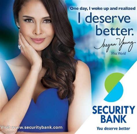 Alarm Bank megan newest endorser of security bank