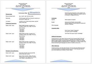 Cv Auf Oder Englisch Bewerbung Englisch Anschreiben Lebenslauf Vorlage Muster
