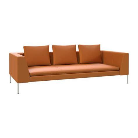 semi sofa montino 3 seater sofa in savoy semi aniline leather