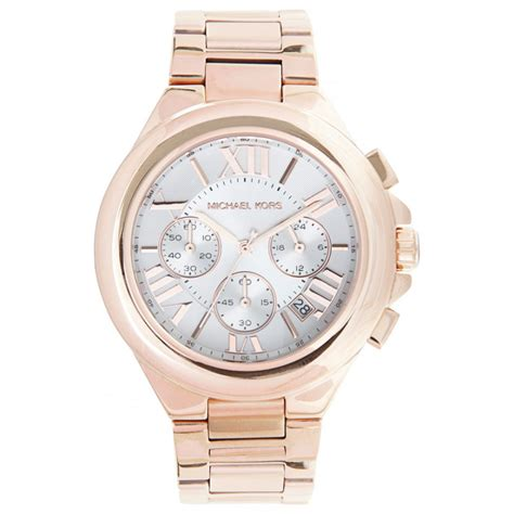 michael kors chronograph rose gold stainless steel