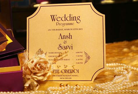 New Wedding Invitation Cards by The Journey Of A Wedding Invitation Card Vwi Delhi