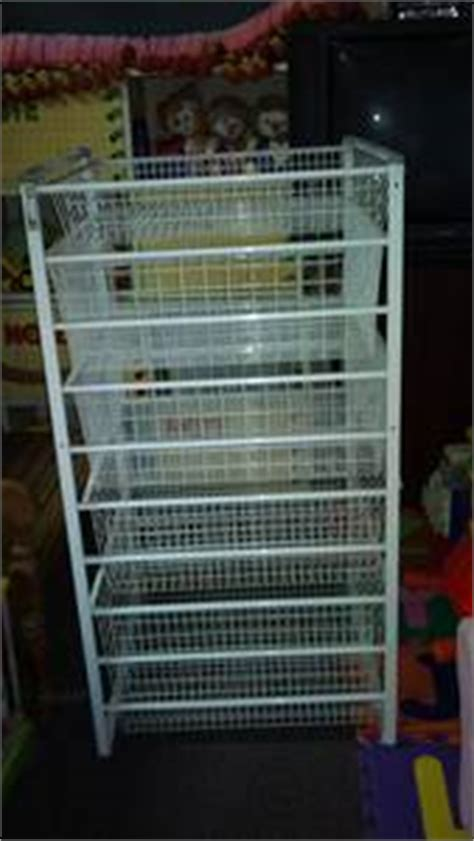 antonius frame and wire baskets ikea ikea antonius wire basket white tall 5 baskets for sale