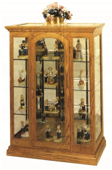 curio cabinets small collectibles small mission curio cabinet from dutchcrafters amish furniture