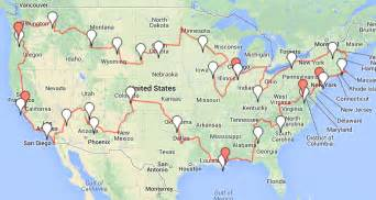 us map driving routes the big usa road trip starts and changes up already
