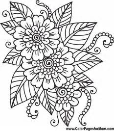 flower coloring page 41 pinteres