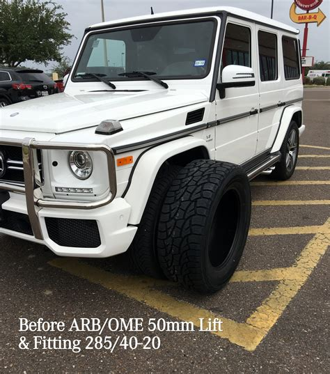 lifted mercedes mercedes g class w463 arb ome 50mm lift kit no front