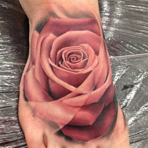 rose tattoo on foot photo realistic on foot tattoos
