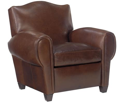 reclining leather club chair paris style leather recliner club chair