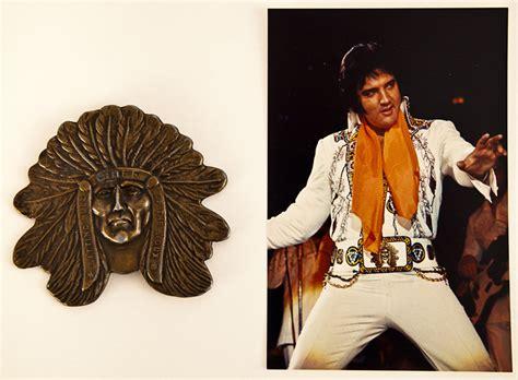 elvis wardrobe lot detail elvis stage worn quot indian quot belt