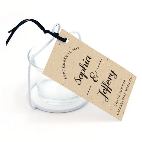 Wedding Favors Catalog by Formal Text Plantable Favor Tag Plantable Seed Favor