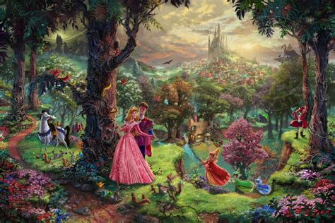disney princess painting free sleeping the kinkade company