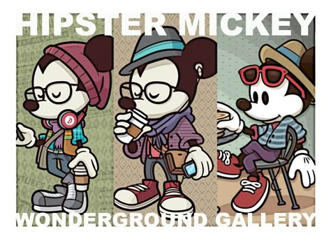 imagenes hipster de mikey new hipster mickey launch date jerrod maruyama illustration