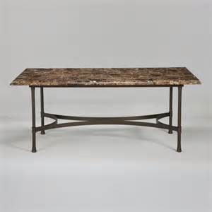 Marble Top Rectangular Dining Table Biscayne Rectangular Dining Table With Marble Top Traditional Dining Tables By Ethan