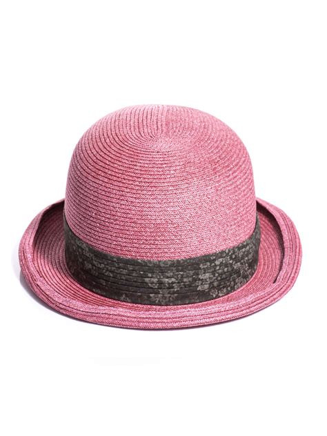 Paper Hats - marc woven paper hat in pink for lyst