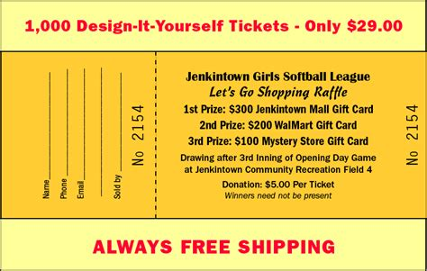 make your own printable raffle tickets raffles for less raffles for less