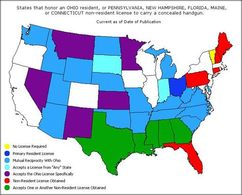 texas chl map texas chl reciprocity map my