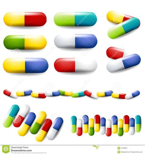 colourful pills drugs medication royalty free stock