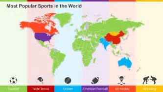 Most Best by Most Popular Sports In The World On A Powerpoint World Map