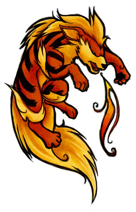 arcanine tattoo arcanine by sleepwalks on deviantart
