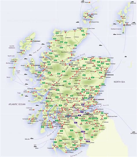 map of with airports road map of scotland with airports and cities scotland